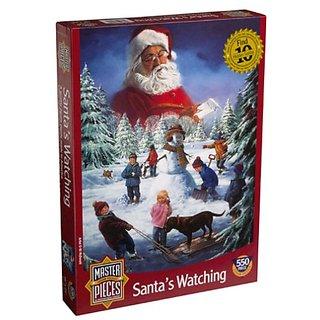 SantaS Watching 550 Piece Christmas Puzzle