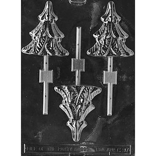 Cybrtrayd C097 Tree Lolly Life of the Party Chocolate Candy Mold with Exclusive Cybrtrayd Copyrighted Chocolate Molding