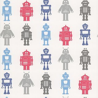 Brewster 443-90512 Robot League Multicolor Robots Wallpaper, Multicolor