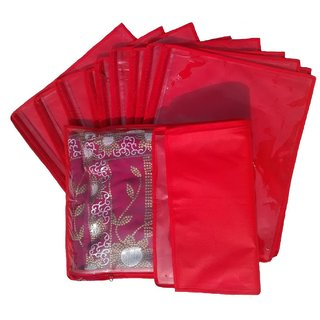 Kuber Industries Non Wooven Single Saree Cover 24 Pcs Set Sc649
