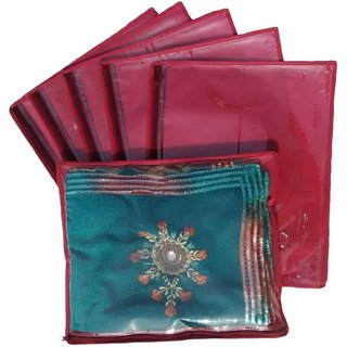 Kuber Industries Non Wooven Single Saree Cover 12 Pcs Set Sc653