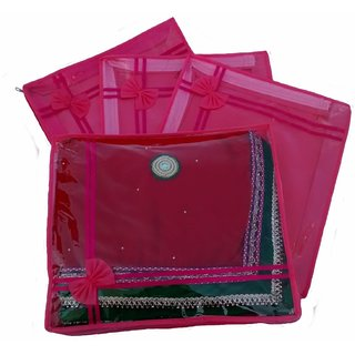 Kuber Industries Non Wooven Saree Cover Set Of 4 Pcs Sc755