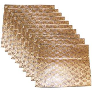Golden Colour Flip Design Saree Sari Cover Bag For 1 Saree Pack Of 10 Ki1002