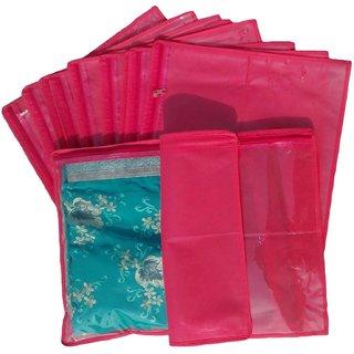 Non Woven Single Saree Covers - Set Of 12 K302