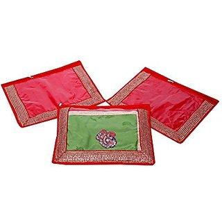 Kuber Industries Single Packing Saree Cover Set Of 3 Pcs (Designer Lace) Ki00532