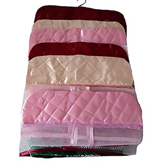 Kuber Industries Synthetic Hanging Saree Cover (Set Of 6) - Multicolor Ki207