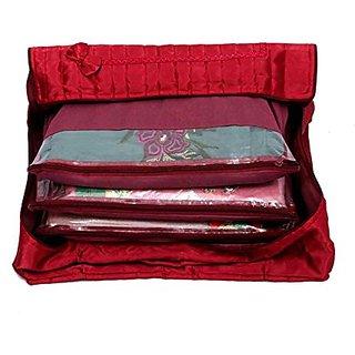 Kuber Industries (Tm) Flap Saree Cover / Saree Bag Set Of 2 Pcs / Wedding Collection, Diwali Gift Scfl304