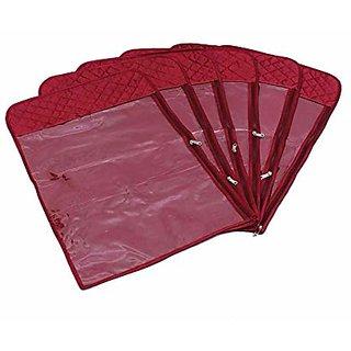 Kuber Industries Hanging Designer Saree Cover - 6Pcs, Wardrobe Organiser, Wedding Collection Gift K011