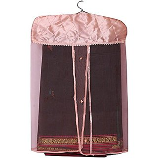 Kuber Industries Satin Saree Cover (Set Of 3) - Golden Ki195