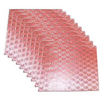Kuber Industries Brocade Saree Cover (Set Of 10) - Pink Ki198