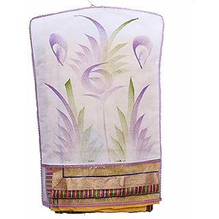 Kuber Industries Transparent Kota Doria Hanging Saree Cover (Set Of 6) - White K036
