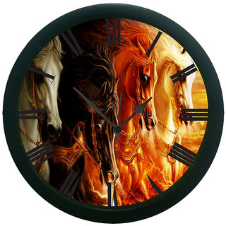 AE World Horse 3D Wall Clock (With Glass)