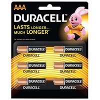 Duracell Alkaline Battery AAA pack of 1 (6 cell)