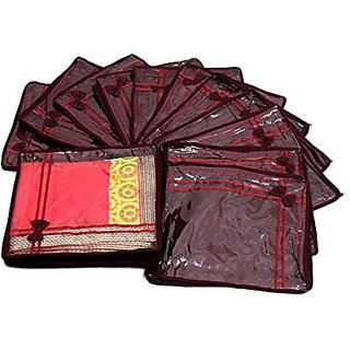 Kuber Industries Saree Cover Non Wooven Material 24 Pcs Set Scnwm101