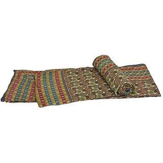 Handblock Multicolor Cotton Double Bed Dohar Pair 308