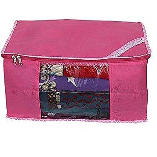 Kuber Industries Saree Cover Non Wooven With Capacity Of 10-15 Sarees, Wardrobe Organiser, Regular Cloth Bag Ki0023004