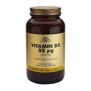 Solgar Vitamin D3 Cholecalciferol 1000 Iu Softgels, 250