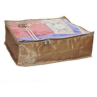 Saree Cover Golden Satin Bow Ki0023002