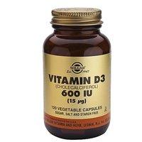 Solgar Vitamin D3 Cholecalciferol 600 IU Vegetable Caps