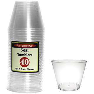 True Vino 150 Ml Hard Plastic Small Tumblers (40 Pc)
