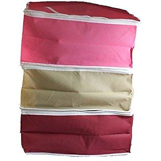 Non Woven Saree Cover 3 Pcs Combo/Wardrobe Organiser/Regular Clothes Bag Sc302