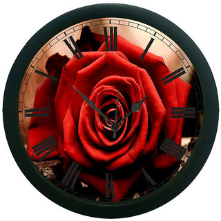 AE World rose 3D Wall Clock (With Glass)