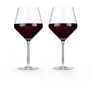 Viski Raye: Crystal Burgundy Glass Set