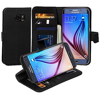 Jumbl Slim Leather Wallet Case - Models Available for Samsung S6 Edge - Inner Hardshell Case Offers Enhanced Protection