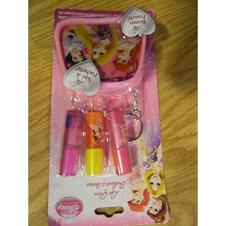 Disney Princess Lip Goss set with small carry pouch