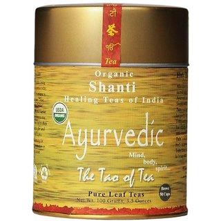 The Tao Of Tea Ayurvedic Tea Shanti - Certified Organic - 3.5 Ounce Tin