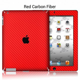 XGear EXOSkin Protective Vinyl Skin with Retina display for iPad 4 - Red Carbon Fiber (IPD4-EXO-RED)