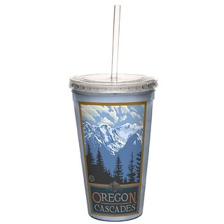 Tree-Free Greetings cc33324 Scenic Oregon Cascades by Paul A. Lanquist Artful Traveler Double-Walled Cool Cup with Reusa