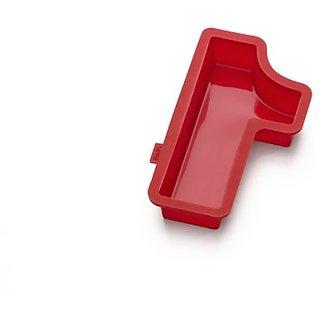 Lekue Number 1 Cake Mold, Red