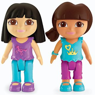 Dora The Explorer Playtime Together Dora and Me Play Dates : Dora and Black Hair Friend