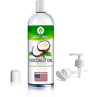 Fractionated Coconut Oil - Pure Expeller Pressed - Carrier Oil for Essential Oils Aromatherapy & Massage - Therapeutic G