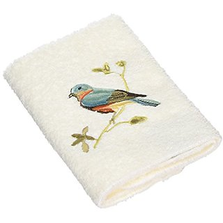 Avanti Premier Songbirds Wash Cloth, Ivory