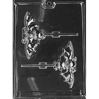 Cybrtrayd H021 Halloween Chocolate Candy Mold, Bat Lolly