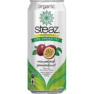 Steaz Organic Green Tea Unsweetened Passion Fruit 16 Oz - Case Of 12