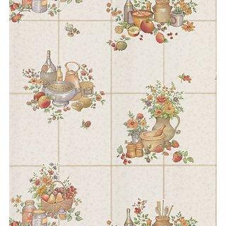 Brewster 425-6050 Kitchen and Bath Resource Volume Ii Wallpaper 20.5-Inch X 396-Inch White