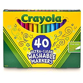 Crayola Fine Line Ultra-Clean Washable Markers (40 Count)
