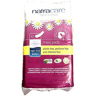 NATRACARE PADS,MAXI,NIGHT-TIME, 10 CT