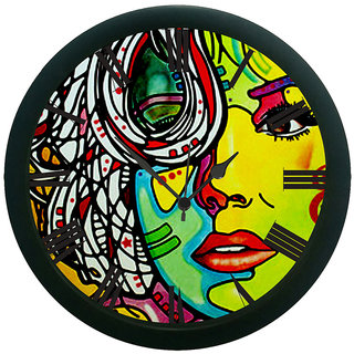 AE World Lady Face Wall Clock (With Glass)