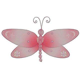The Butterfly Grove Dakota Dragonfly 3D Hanging Mesh Nylon Decor - Pink Carnation - Small - 7