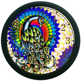 AE World Peacock Wall Clock (With Glass)