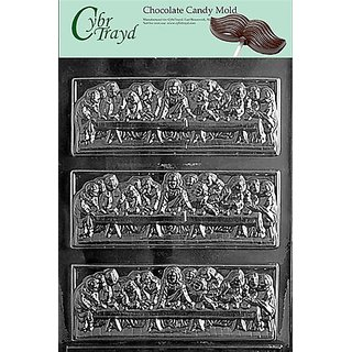 Cybrtrayd R022 Last Supper Bar Chocolate Candy Mold with Exclusive Cybrtrayd Copyrighted Chocolate Molding Instructions