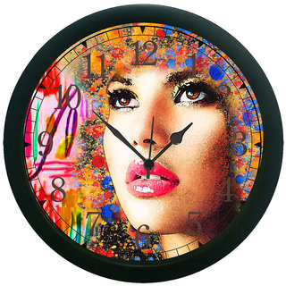 AE World Girl Face Wall Clock (With Glass)