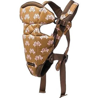 Petunia Pickle Bottom Sightseer Carrier - Brown And Pink Shell W/ Brown Lining