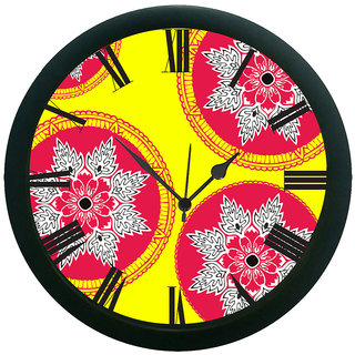 AE World Yellow Wall Clock (With Glass)
