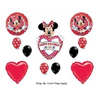 Red Mad About Minnie Mouse PERSONALIZED Happy Birthday