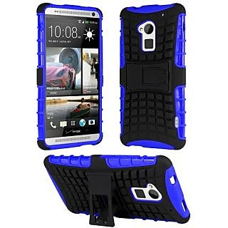 HHI Dual Armor Composite Case with Stand for HTC One Max (T6) - Blue (Package include a HandHelditems Sketch Stylus Pen)